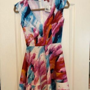 Colorful Saks Fifth Avenue Skater style dress